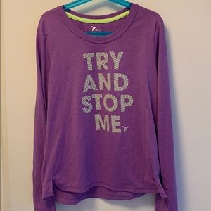 Old navy active Try and stop me shirt